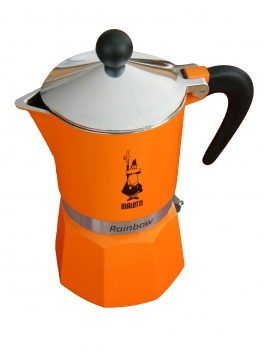 Bialetti Rainbow 3 Tassen Espressokocher (0004992) orange